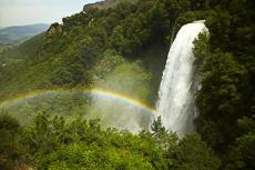 Cascata della Mamore & Rainbow, Terni, Umbria, Italy