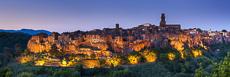 Pitigliano at Night, Tuscany, Italy