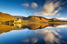 Kilchurn Castle Reflecting in Loch Awe, Scotland
