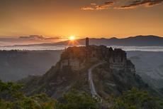 Civita di Bagnoregio at Sunrise, Lazio, Italy