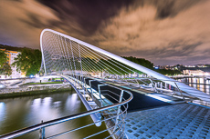 Calatrava Bridge, Bilbao, Basque Country, Spain