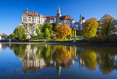Sigmaringen Castle in Autumn, Baden-Wurttemberg, Germany