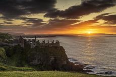 Dunluce Castle at Sunset, N. Ireland
