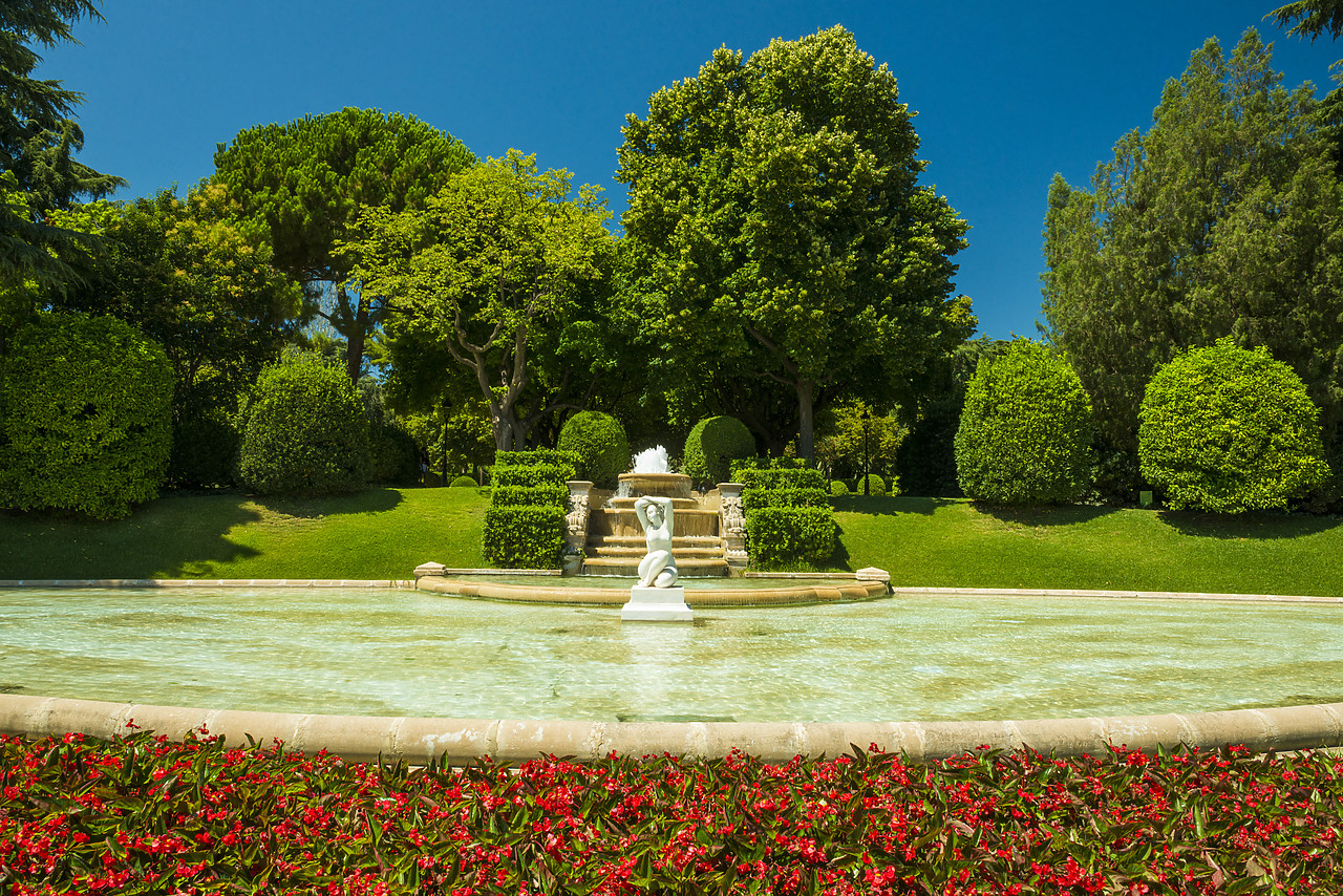 #140329-1 - Gardens at Palau Reial, Barcelona, Spain