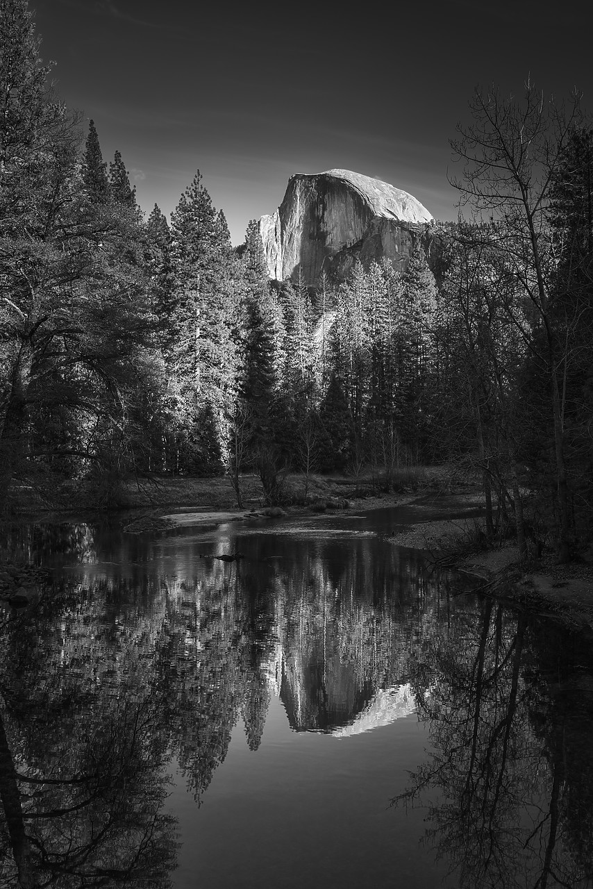 #180002-1 - Half Dome Reflecting in Merced River, Yosemite National Park, California, USA