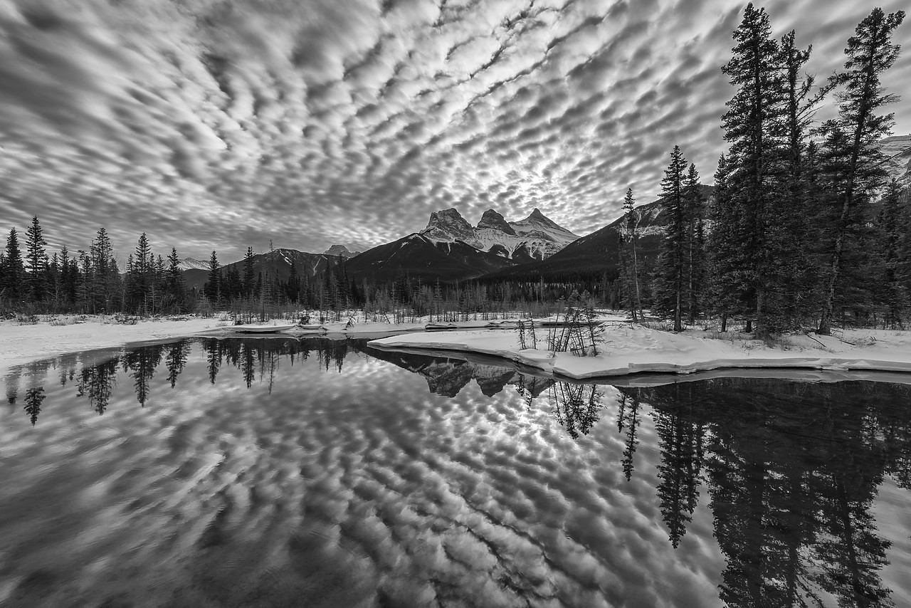 #180043-1 - Clouds Reflecting in Bow River, Aberta, Canada