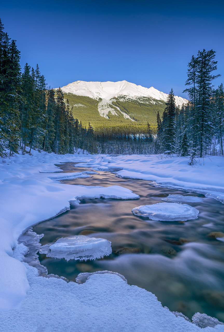 #180055-2 - Ice Formations on Sunwapta River, Jasper National Park, Aberta, Canada
