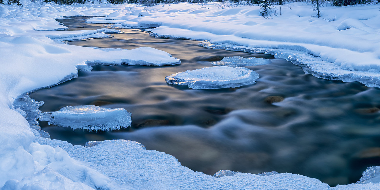 #180056-2 - Ice Formations on Sunwapta River, Jasper National Park, Aberta, Canada