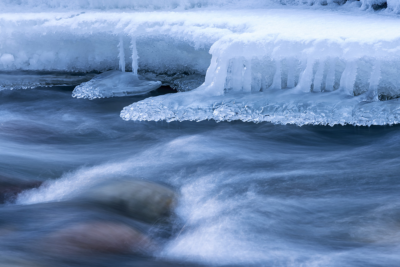 #180057-1 - Ice Formations on Sunwapta River, Jasper National Park, Aberta, Canada