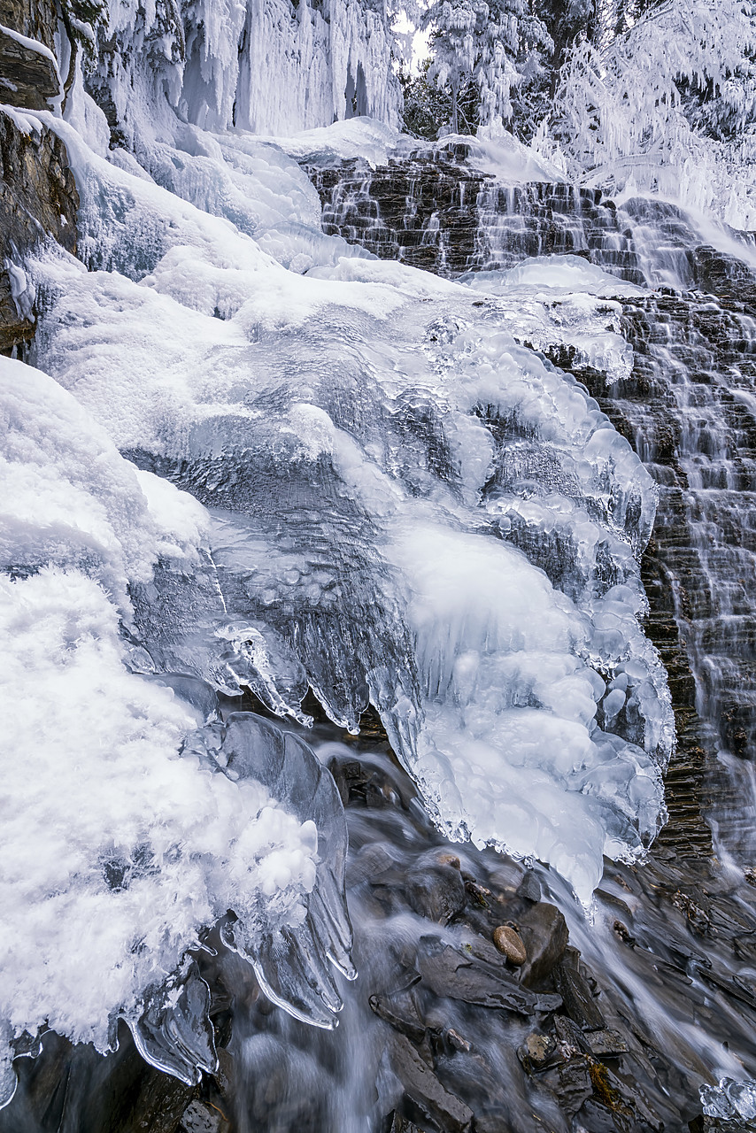 #180065-1 - Fan Falls in Winter, Jasper National Park, Aberta, Canada