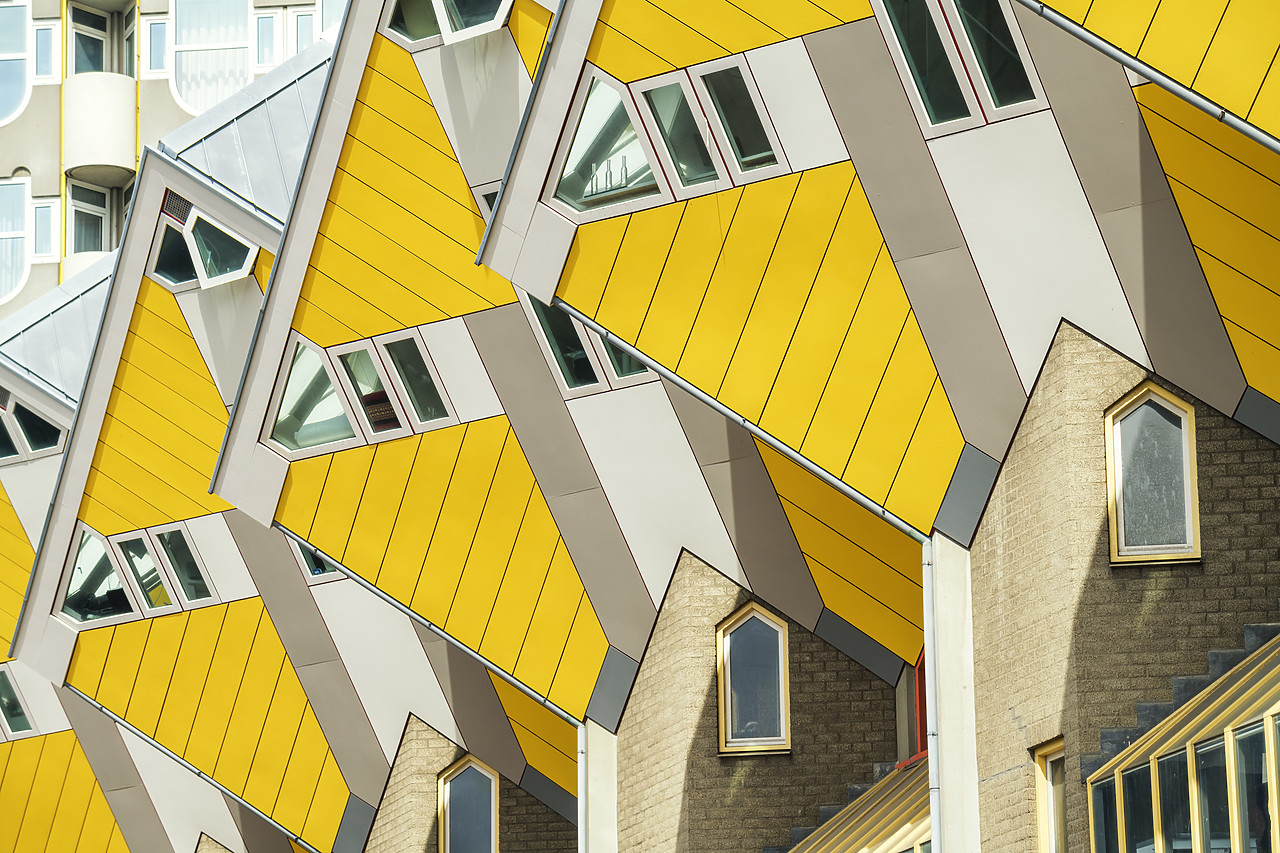 #180332-1 - Cube Apartments (Architect: Piet Blom), Rotterdam, Holland, Netherlands