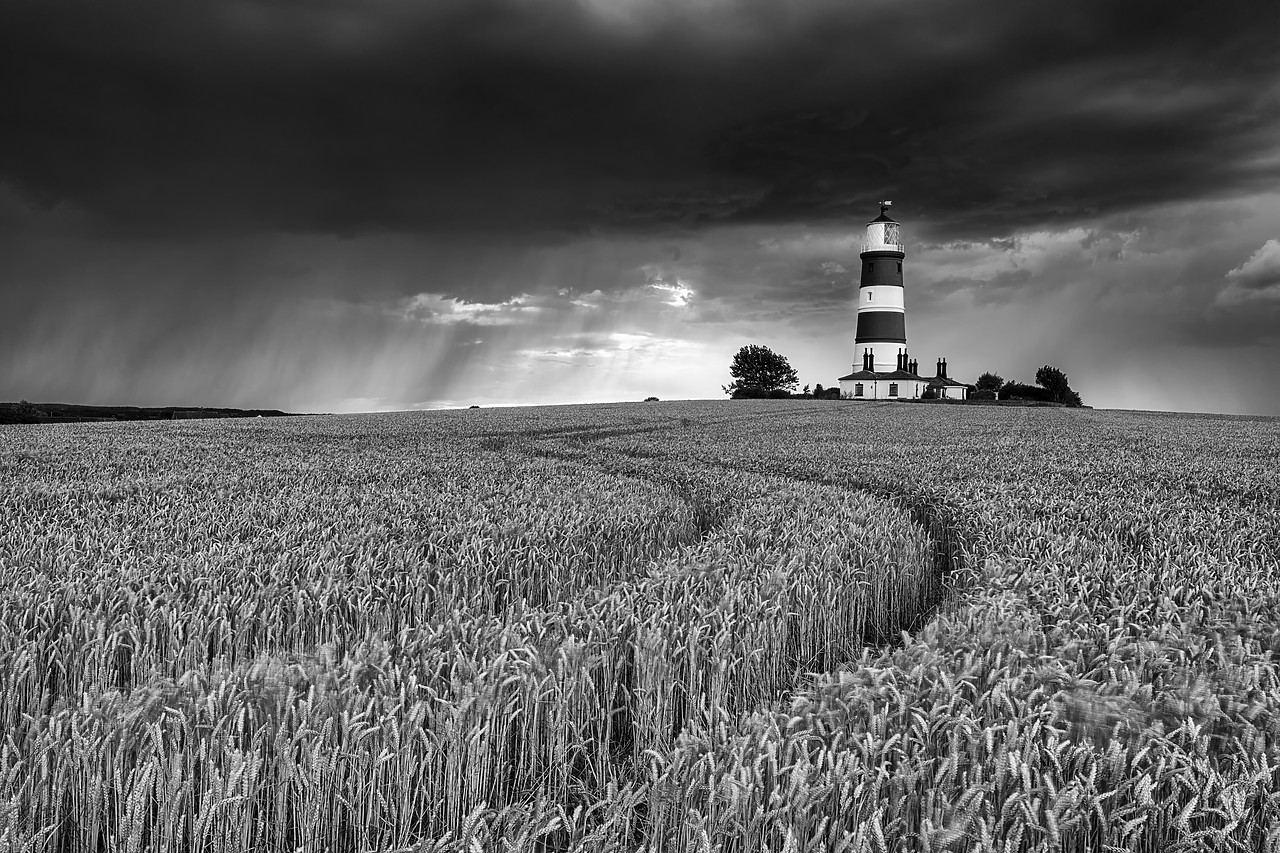 #180367-2 - Storm over Happisburgh Lighthouse, Norfolk, England