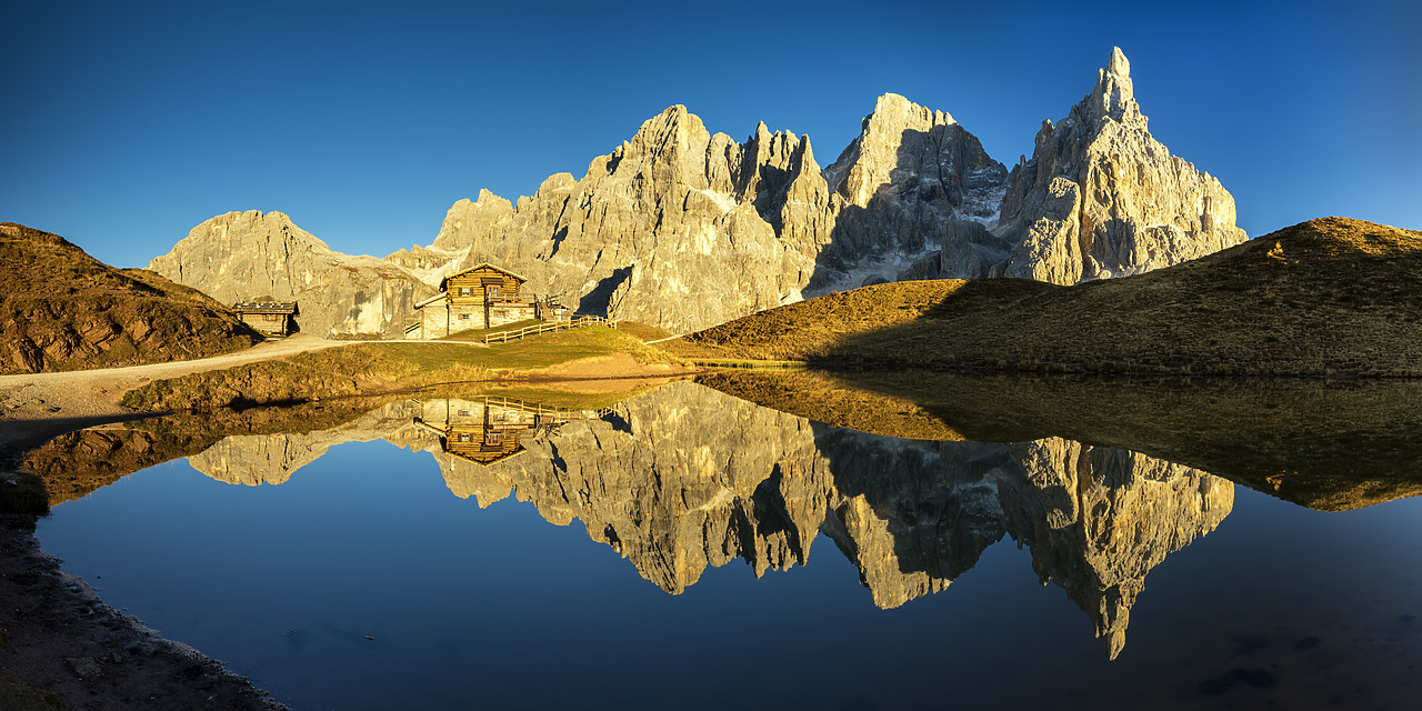 #180472-1 - Pale di San Martino Reflecting in Lake, Passo Rolle, Dolomites, Italy