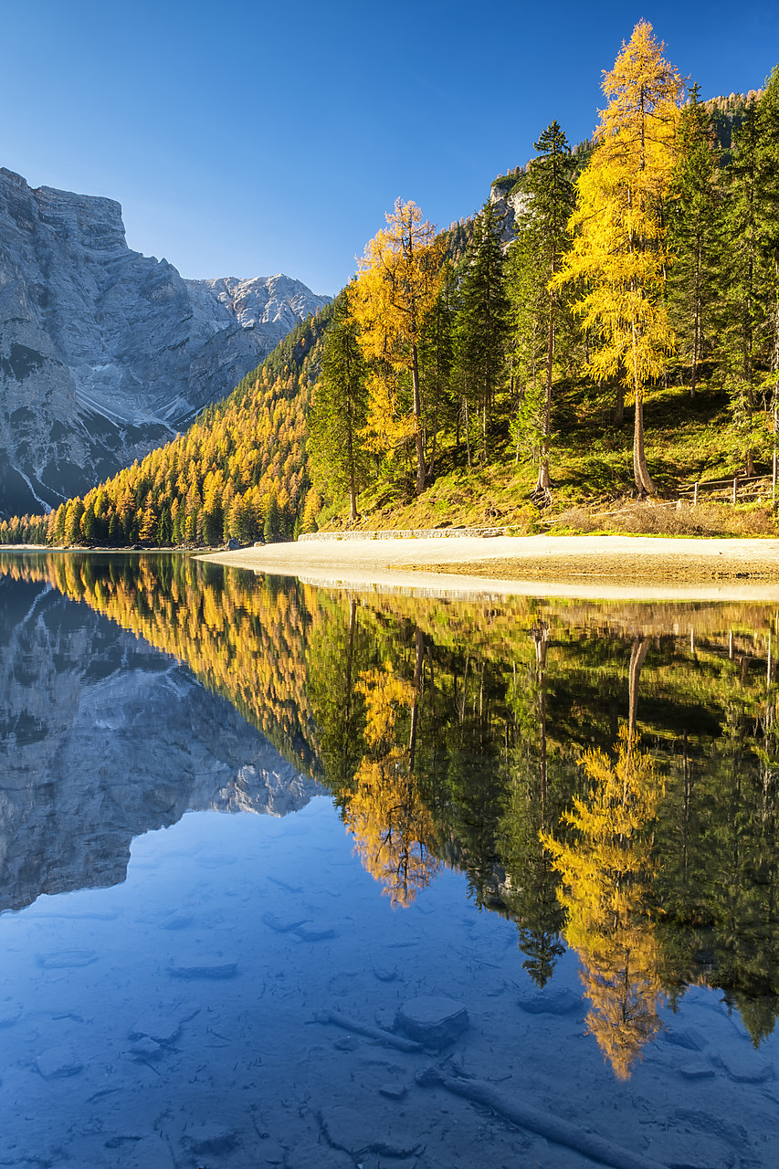 #180497-1 - Lago di Braies in Autumn, South Tyrol, Bolzano, Dolomites, Italy