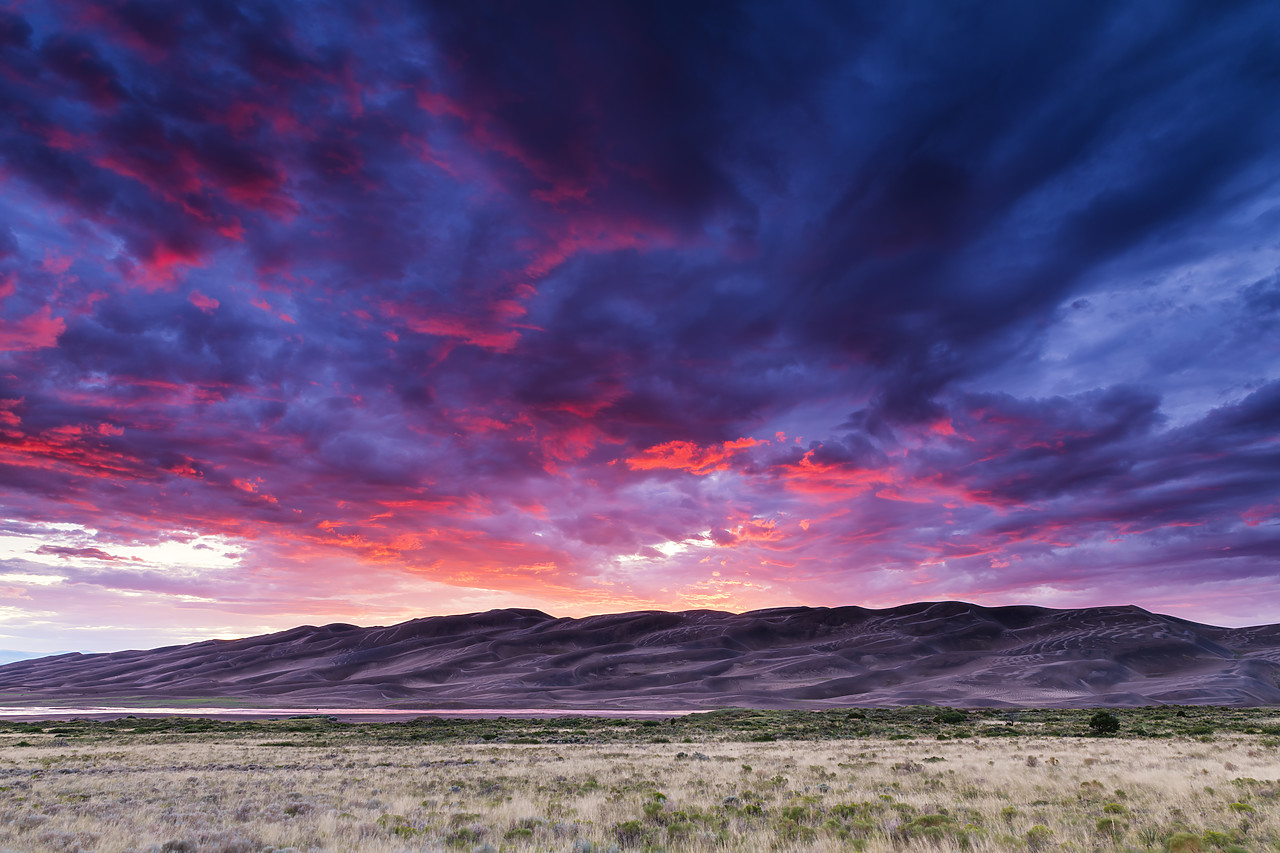 #190250-1 - Sunset over Great Sand Dunes National Park, Colorado, USA