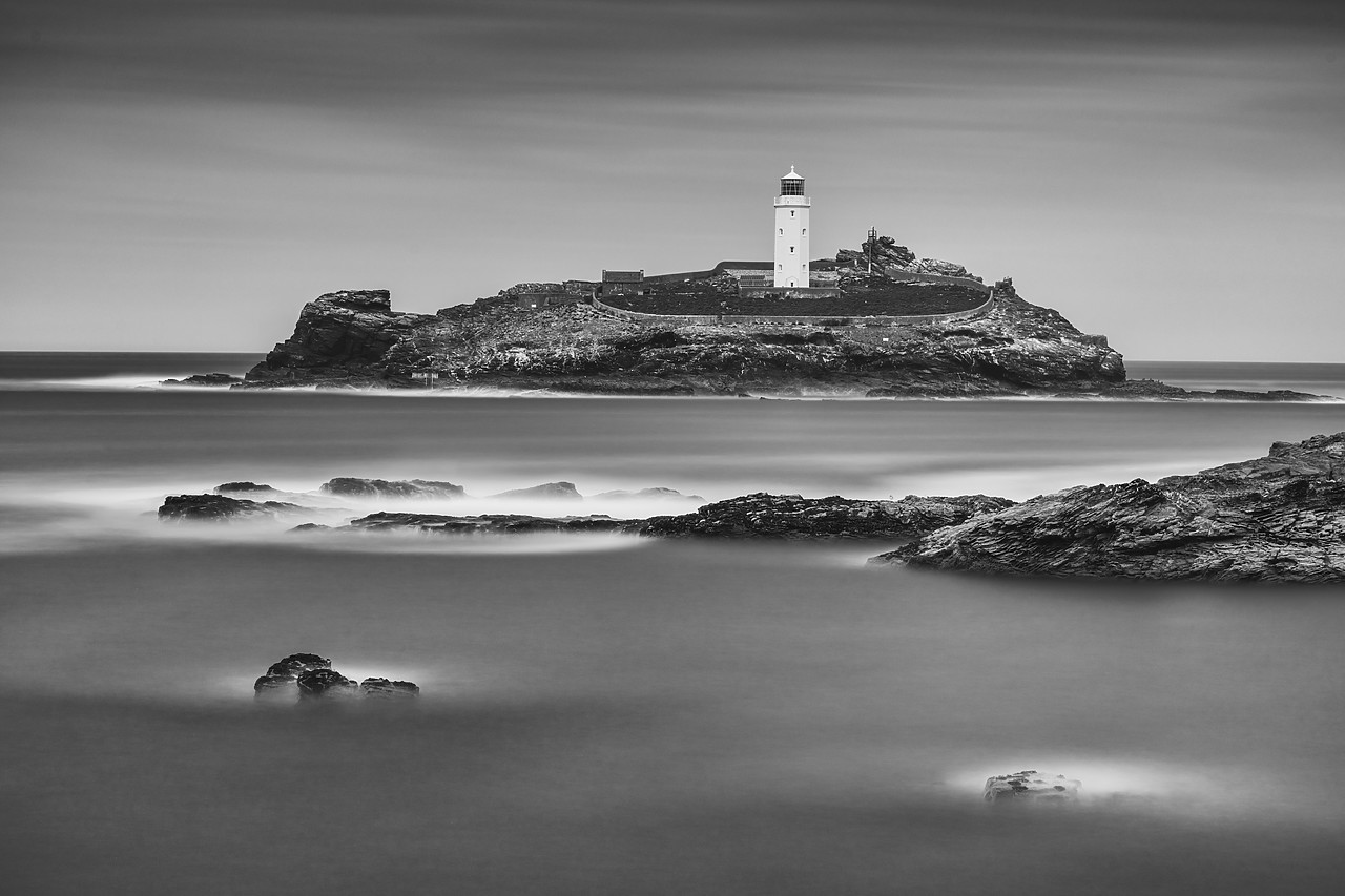 #190264-1 - Godrevy Lighthouse, Cornwall, England