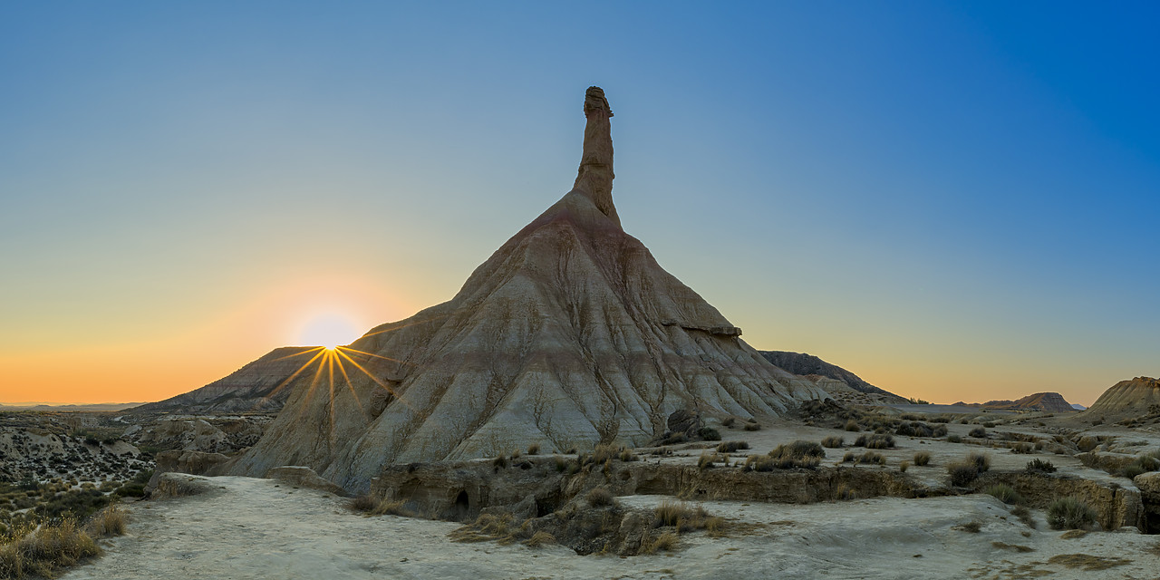 #190493-1 - Castildetierra at Sunrise, Parque Natural de las Bardenas Reales, Navarre, Spain
