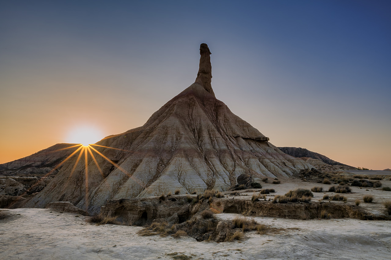 #190494-1 - Castildetierra at Sunrise, Parque Natural de las Bardenas Reales, Navarre, Spain