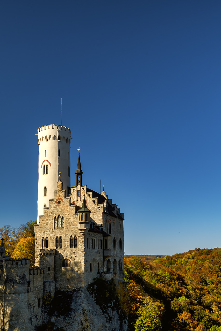 #190533-4 - Lichtenstein Castle in Autumn, Baden-Wurttemberg, Germany