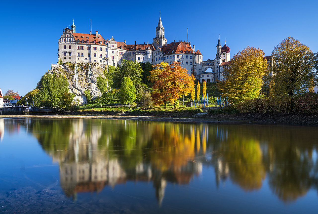 #190534-1 - Sigmaringen Castle in Autumn, Baden-Wurttemberg, Germany