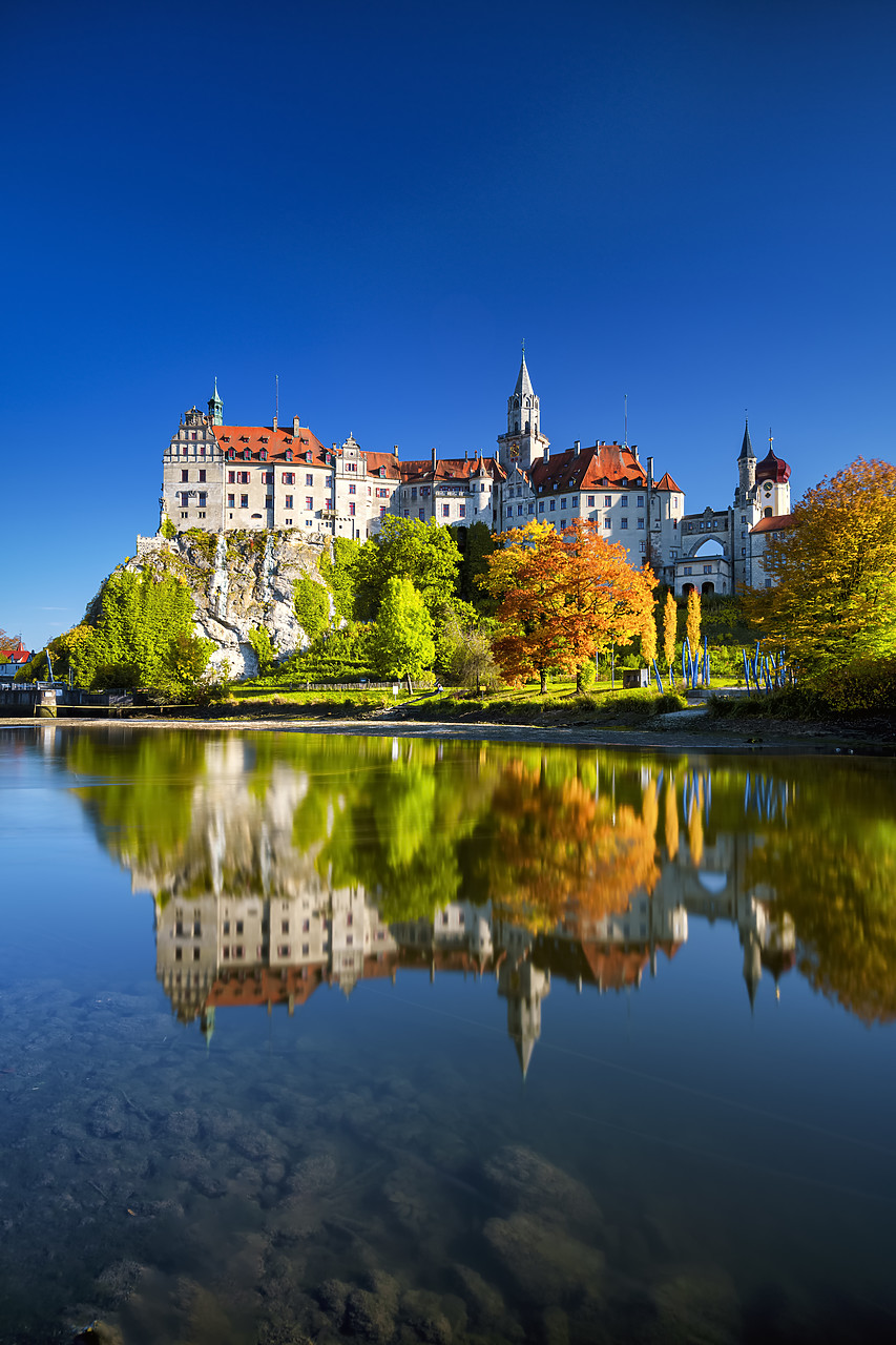 #190534-2 - Sigmaringen Castle in Autumn, Baden-Wurttemberg, Germany
