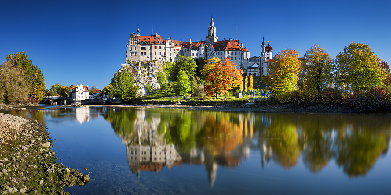 #190534-3 - Sigmaringen Castle in Autumn, Baden-Wurttemberg, Germany